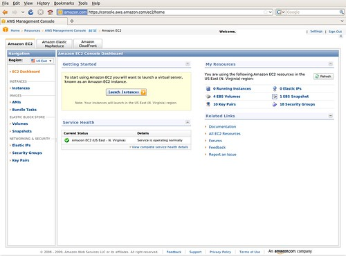 AWS Management Console @ 20091208