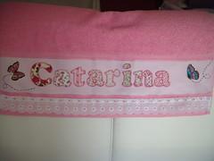 PRONTA! Mais uma encomenda... (*Sonhos e Retalhos Ateli*) Tags: patchwork letras bordado costura patchcolagem toalhadebanho