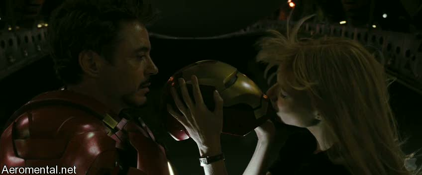 Iron Man 2 Trailer 2 Pepper Kissing helmet