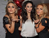 Nadia Forde, Georgia Salpa and Sarah Kavanagh at the Assets Model Agency Christmas Party 2009 at Krystle Night Club