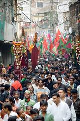 Tajia walk on street [Dhaka, Bangladesh] (- Ariful H Bhuiyan -) Tags: nikon islam shia ashura dhaka karbala bangladesh sunni d40 nikond40 tajia january2009 10muharram thetenthday