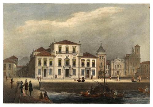 023-Palacio de la ciudad de Rio de Janeiro tomado desde el embarcadero-Saudades do Rio de Janeiro- Wilhelm Karl Theremin 1835