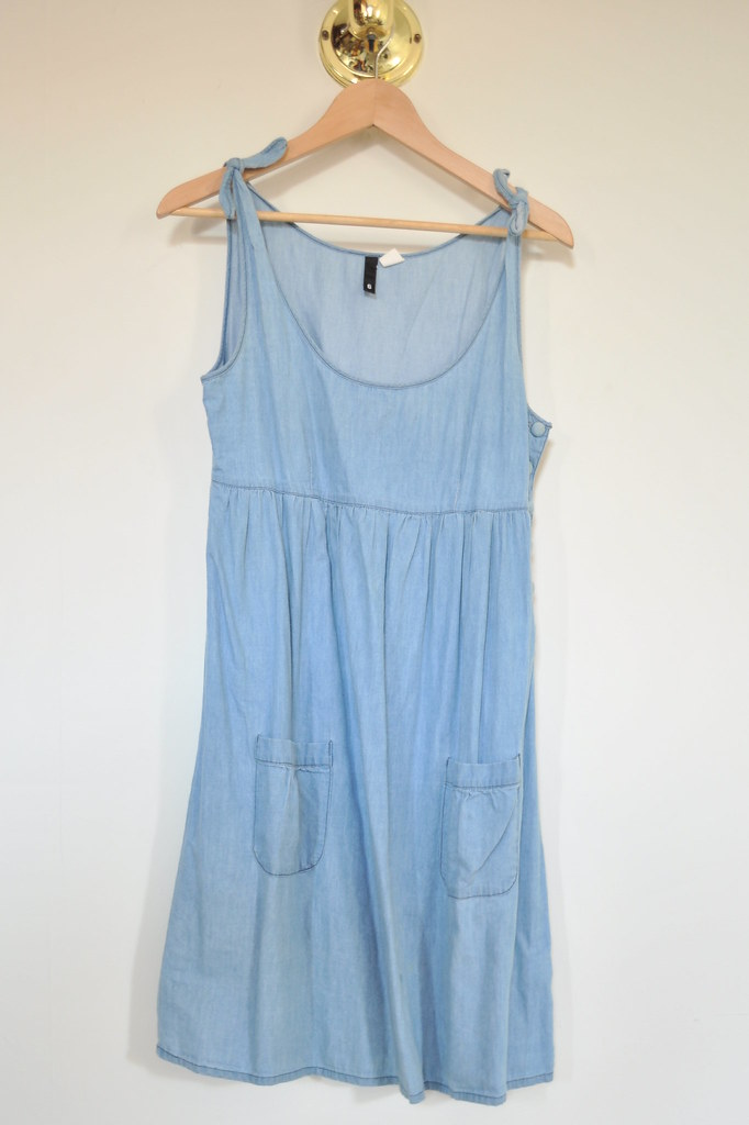 H&M light denim dress