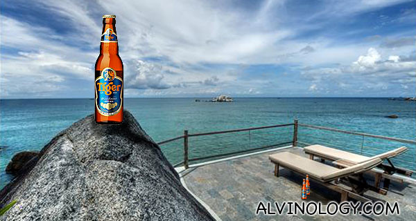 The beautiful Nikoi Island (beer bottles photoshopped in by yours truly)