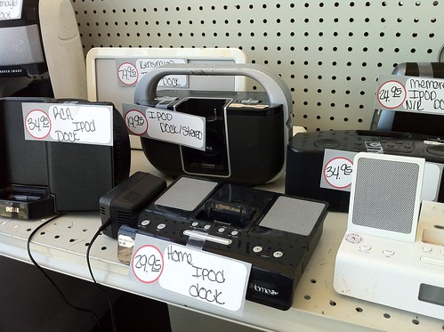 iPod Speaker Accessories in an OKC Pawn Shop