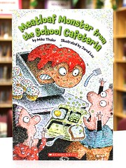 Meatloaf Monster from the School Cafeteria (Vernon Barford School Library) Tags: new school fiction jared food mike monster reading book high library libraries humor reads books super humour meat read paperback cover lee junior novel covers monsters bookcover schools loaf pick middle cafeteria vernon quick meatloaf recent picks qr bookcovers paperbacks novels fictional humourous thaler barford cafeterias softcover quickreads quickread humorour vernonbarford softcovers superquickpicks superquickpick 9780545485708