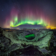 The Crater (On Explore 2017-02-24) (Sigurdur William Photography) Tags: dark night sky star shine bright aurora borealis northern lights arctic shots tour operator photoguide tourguide travel crater iceland bucketlist amazing massive panorama lake bottom reflection