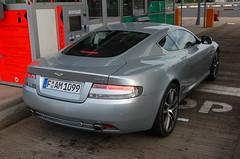 Aston Martin DB9 2010 (D's Carspotting) Tags: aston martin db9 2010 france coquelles calais grey 20100613 fam1099 le mans lm10 lm2010