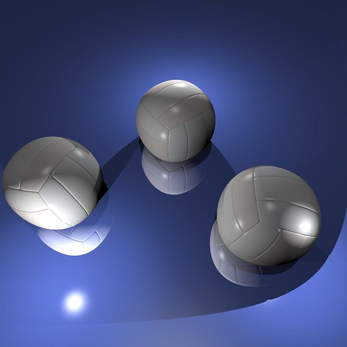 Volleyballs rendered by Cheetah3D