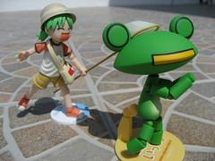 GotCha !!! (K4z4m4) Tags: japan indonesia toy cartoon frog collectible ricky summervacation medan yotsuba mainan revoltech yotsubadx