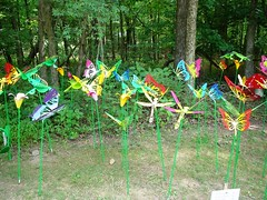 Field of Metal Rainbow Butterflies