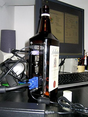 whiskey bottle computer