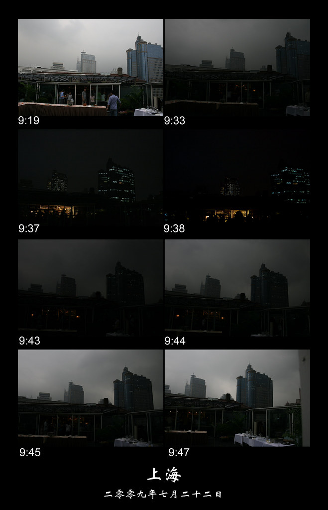 Rainy solar eclipse in Shanghai