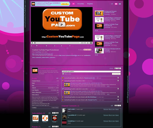youtube layouts template. youtube layouts