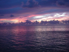 color and color (Spotted drum  (on & off)) Tags: ocean pink blue sunset sea vacation sky cloud white beautiful purple pacific saipan gmt