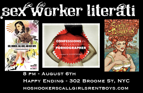 Sex Worker Literati Inaugural Reading - August 6 at Happy Ending