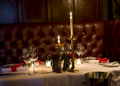 (D3 Photography) Tags: uk dinner 50mm glasses evening nikon candles dof wine f14 royal sigma atmospheric mile d3 thewitchery