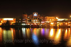 Canal Walk, Cape Town, South Africa (Max Loxton) Tags: reflection southafrica lights capetown nightview ppg canalwalk 1740f4l yasirnisar towardspakistan pakistaniphotographers maxloxton canon1dmarkiii