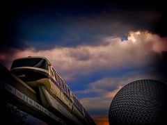 Monorail Black (Kiki FL) Tags: epcot florida olympus disney explore transportation e3 monorail wdw waltdisneyworld frontpage zuiko themepark spaceshipearth 5stardisneyaward