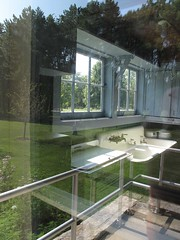 Floating Window (happygrrl) Tags: summer window kitchen glass digital canon reflections illinois sink floating double logcabin winnetka