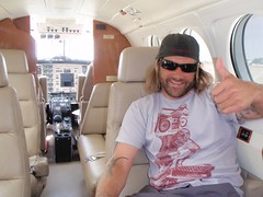 Taking off on private plane from Palomar airport
