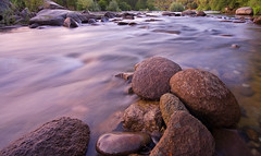 Texture (Chris Delle) Tags: california longexposure bridge pink wet water canon river rocks textures 1020 sigma1020mm auburnstaterecreationarea 40d