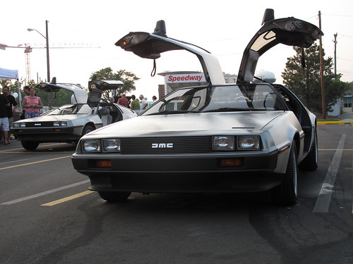 swarm of DeLoreans