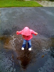 Puddle splashing