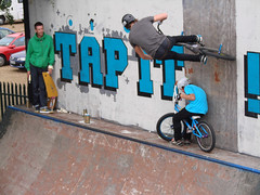 He couldn't wait 2...... (farkfk) Tags: by army stencil day all top fark skatepark had jam standard lex finbarr fk mydogsighs southsea riders thelocal spqr andthe toall shouts farkfk onwood stickee nine0