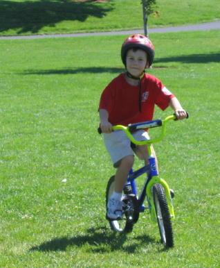 Hot Rod riding around the park