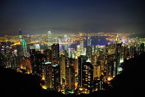 フリー画像| 人工風景| 建造物/建築物| 街の風景| 夜景| ビルディング| 中国風景| 香港|    フリー素材|