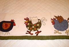 Patchwork - Galos e Galinhas em Band para cozinha (Atelier Eu Q Fao) Tags: sandra eu quilting patchwork q atelier tecidos galinhas bando galos fao importados