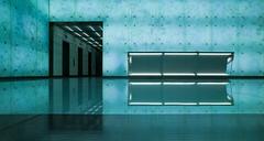 DC Office Space Full Desk (ken mccown) Tags: blue light design washingtondc interior lobby