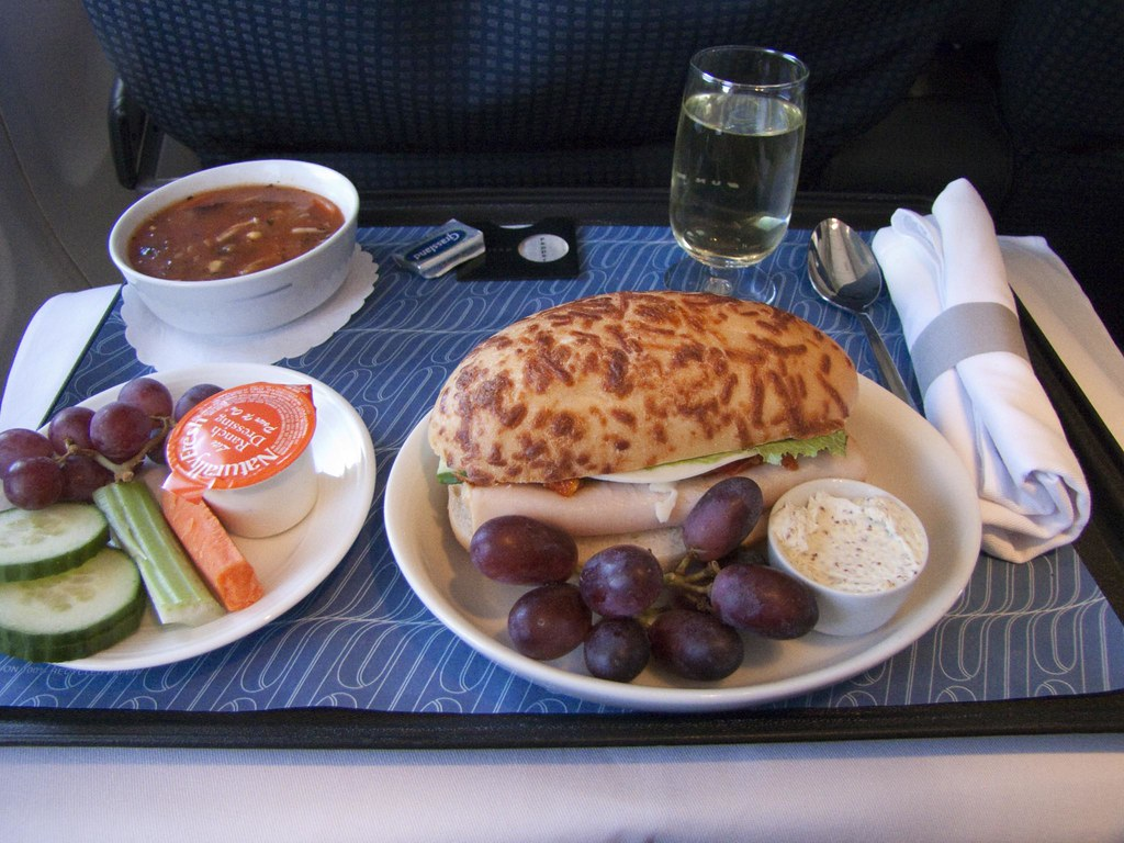 Coach Meal in First Class