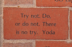 Try not. Do, or do not. There is no try. Yoda (Eastern Washington University) Tags: hello usa brick college star washington education university spokane yoda walk bricks cheney wa wars eastern alumni inscription paver ewu donor trynotdo ewuphoto ordonotthereisnotry brickswith s1r9p1 mid304843 brickwith