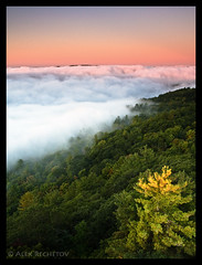 Sea of Clouds (AlexRechetov) Tags: mountain ontario canada clouds forest sunrise canon canonef1740mmf4lusm canon40d