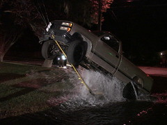 Vehicle vs. Fire Hydrant on Guide Wires