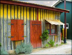 Maison de pcheurs ..........sur le bassin d'Arcachon (lo46) Tags: wood house france village couleurs maison pecheur bois bassindarcachon aquitaine gironde lecanon lo46 homersiliad maisondepecheur