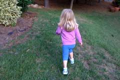 running through our yard