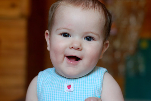 Violet smiles
