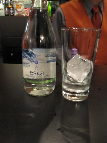 Sparkling water at the opera - $5 with tips