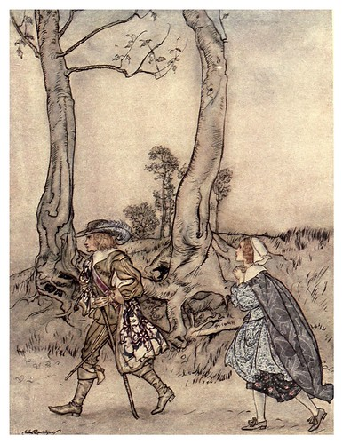 012-La recuperacion del falso amante-Some British ballads 1919- illustrations Rackham Arthur