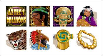 free Aztec's Millions slot game symbols