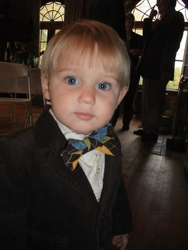 ring bearer in argyle bow tie