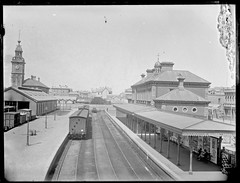 Railway Station, Newcastle, NSW, [1890] (Cultural Collections, University of Newcastle) Tags: newcastle rail railway australia nsw 1890 newcastlestation newcastlerailwaystation ralphsnowball snowballcollection ralphsnowballcollection asgn0795b37 newcastleregionnswhistorypictorialworks photographynewsouthwalesnewcastle railroadsnewsouthwalestrains railroadstationsnewsouthwalesnewcastle