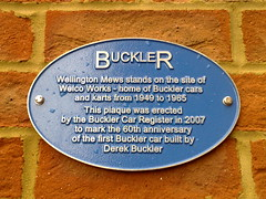 Photo of Derek Buckler blue plaque