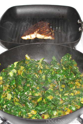 Rainbow Chard & Catfish