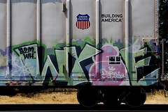 Wyse (All Seeing) Tags: up graffiti unionpacific d30 wh allseeing uprr armn reefers a2m buildingamerica