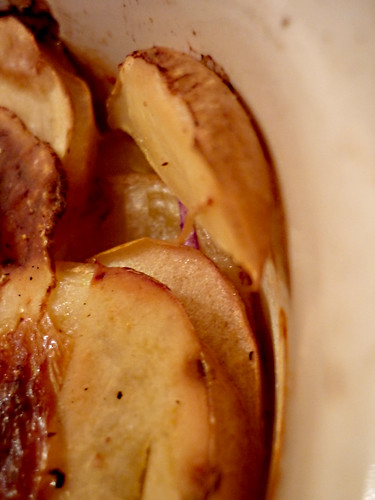 millefoglie autunnale di mele e patate