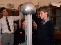 Hurstpierpoint College Physics lesson. (Mark Draisey Photography) Tags: school college education uniform posh schooluniform boardingschool staticelectricity privateschool publicschool schoolboys upperclass physicslesson independentschool privileged hurstpierpointcollege vandegraafgenerator britisheducation britishpublicschools